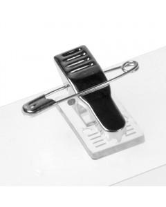 KANDINSKY Ausweishüllen im Querformat mit Clip-Nadel 55 x 90mm (50 Stück)